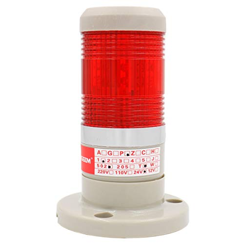 Heschen LED Birne Warnleuchte Tower Signalleuchte 24V DC rot 2-adrig Tower 24
