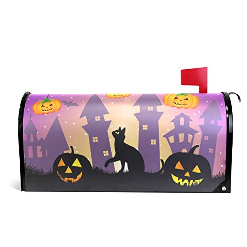 WOOR Halloween Kürbis Eule Schwarze Katze Magnetbriefkasten, Standardgröße, 45,7 x 52,1 cm 20.8x18 inch Standard Size Multi ()