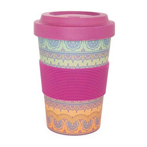 YogiCup2Go, Bambus Coffee-to-go-Becher mit Print