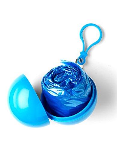 ShirtInStyle Notfall-Poncho Universum, ideal für Open Air, klein und schnell verpackt, Regencape, Regenpocho Blue