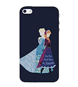 Takkloo let it go cute cover, animated designcute princesssister love) Printed Designer Back Case Cover for Apple iPhone 5S
