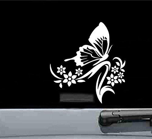 Tribal Schmetterling mit Blumen vinyl Aufkleber Aufkleber - Toyota Trd Decals