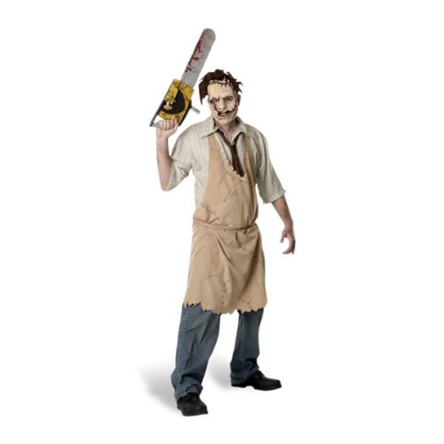 assacre - Leatherface - Horrorkostüm Herren für Halloween (Texas Chainsaw Massacre Leatherface Maske)