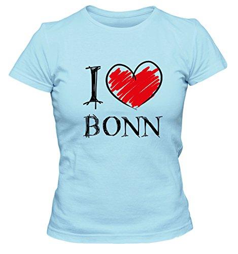 I love Bochum FUN Damen T-Shirt, Größe:XL;Farbe:hellblau