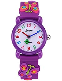 Gift El Reloj Clock Free Shipping Little Boys And Girls Lovely Flower Dial Jelly Leather Watch Kids Learn To Time Colorful No Children's Watches