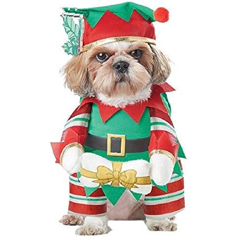 Fandecie Chapeau et Noël Chien Décorations pour Animaux de Compagnie et de Chat Colliers de Vêtements Robe de Vacances