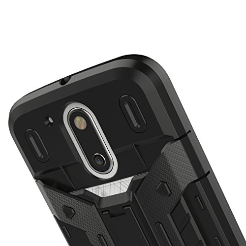 G4 / G4Plus Coque,EVERGREENBUYING [Robot-Armor] léger 2 en 1 Moto G 4th Generation Cases [Metal Slate] Housse Etui Premium Kickstand Bumper Hard Shell Back Coque Case Pour Motorola MOTO G4 / G4 Plus N Gris