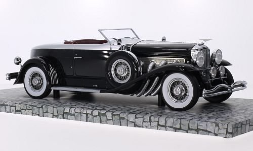 duesenberg-model-j-torpedo-convertible-coupe-schwarz-silber-1929-modellauto-fertigmodell-minichamps-