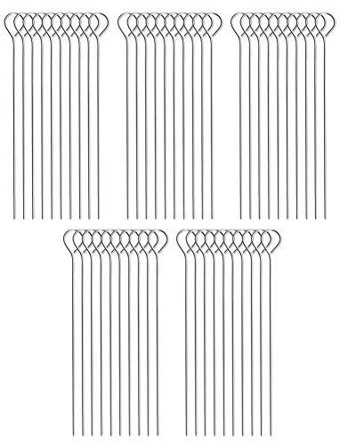 COM-FOUR® 50x Rouladennadeln aus Edelstahl (050 Stück - Nadel)