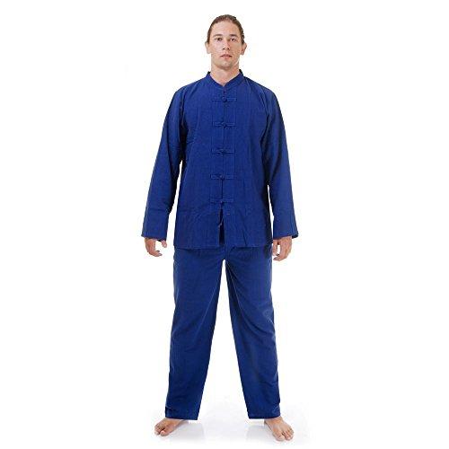 Mao Kostüm Anzug - Princess of Asia Kung Fu, Tai Chi & Meditations Anzug Baumwolle Größe XL Blau