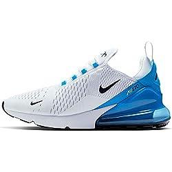 Nike Herren AIR MAX 270 Leichtathletikschuhe, Mehrfarbig (White/Black/Photo Blue/Pure Platinum 000), 42.5 EU