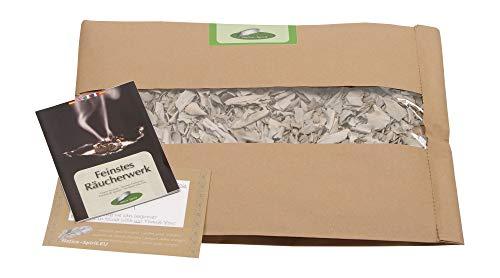 Native Spirit 100gr Weisser Salbei Premium Qualität Standard (with Full Energy - respectfull Treat) - in komplett biologischer Verpackung - Salvia Apiana White Sage California