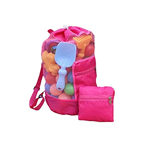 Albeey Kinder Strand Tasche Tunnelzug Rucksack Schwimmen Spielzeug Tasche Mesh
