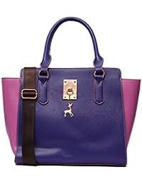 Louise Belgium Designer Hand Bag For Women - Purple & Pink