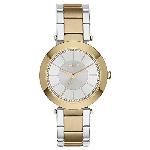 DKNY NY2334 - Reloj de cuarzo con correa de acero inoxidable para mujer, color dorad