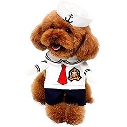 Pegasus Sailor DISFRAZ de perro con sombrero azul cosplay disfraz todas las estaciones blanco, para las pequeñas de mascota Perro Gato Cachorro