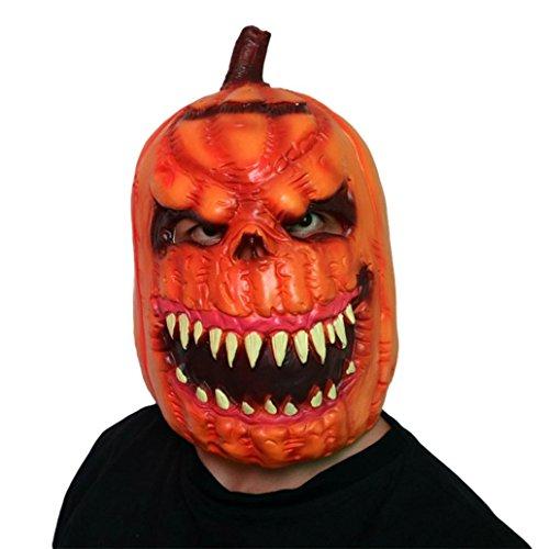Senwu Neue Deluxe Neuheit Halloween Scary Kostüm Party Stützen Latex Kürbiskopf Maske (E)