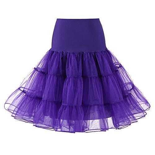 HWY Sommer Frauen kurzen Petticoat Vintage Ballett Puffy Net Rock Geschichteten Minirock für Strand Kostüm Tanzparty täglichen Verschleiß (Halloween Haben Warum Kostüme Für Wir)