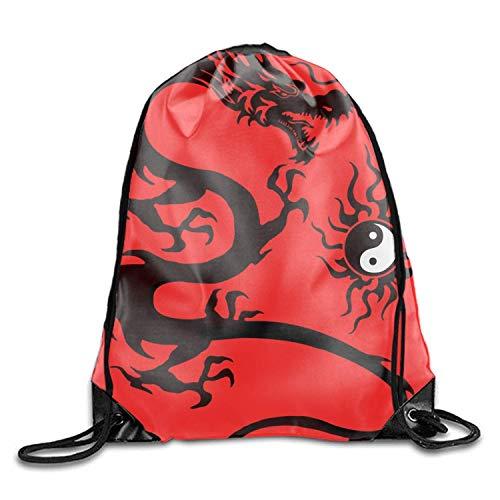 Naiyin Yin Yang Tao Symbol with Chinese Zodiac. Backpack for Women & Girls Casual Daypack Book School Bag Cool Tattoo Dragon in yinyang9
