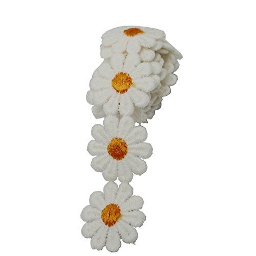 Baoblaze Vintage Deko Band Blume Spitzenbesatz für Hochzeitskleid - Orange