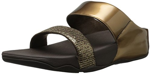 Fitflop Women's Lulu Superglitz Slide Sandals Bronze 11