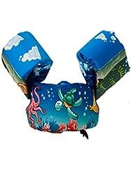 Brassard bébé de baignade Brassard Gonflable Enfant Brassard et ceinture de sauvetage Ceinture Brassards 2 en 1 aide à la natation pour enfants ayant de 2 à 6 ans