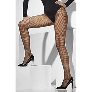 Smiffys Fever Damen Sexy Netzstrumpfhose, One Size, Schwarz, 42770