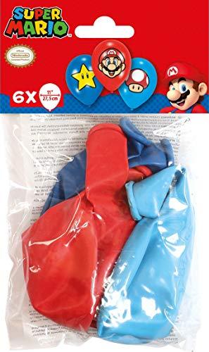 amscan 9901999 6 Latexballons Super Mario Bros, Bunt