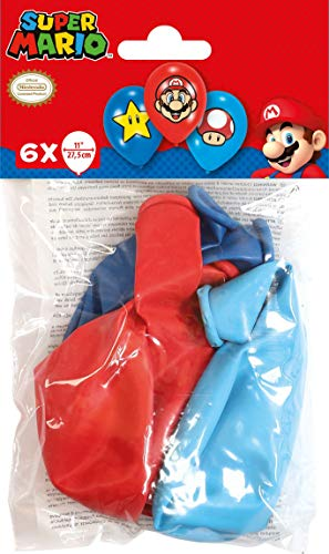 amscan 9901999 6 Latexballons Super Mario Bros, Bunt (Halloween-kostüme Cool Duo)