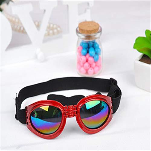 MYYXGS Occhiali da Sole per Cani Protezione per Gli Occhi di Cani Occhiali per Occhiali UV Occhiali per Animali Pieghevoli per la Guida di Biciclette per Cani di Media e Grande Taglia 17 * 5 cm