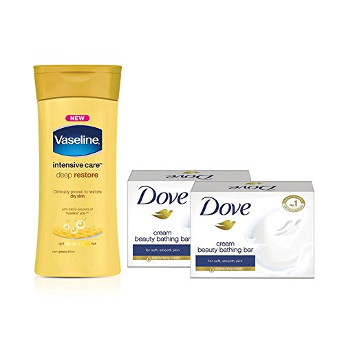 Vaseline-Intensive-Care-Deep-Restore-Body-Lotion-300ml-with-Free-Dove-Cream-Beauty-Bathing-Bar-2x75g