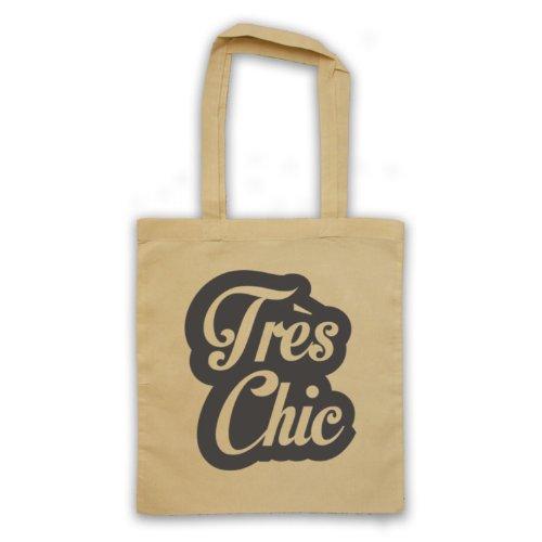 Tres Chic francese Slogan Tote Bag natur