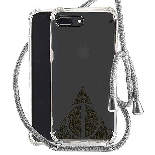 Finoo Handykette geeignet für iPhone 7 Plus / 8 Plus Harry Potter Handyhülle mit Marine Kordel Band Schutzhülle Necklace zum umhängen - Heiligtümer des Todes