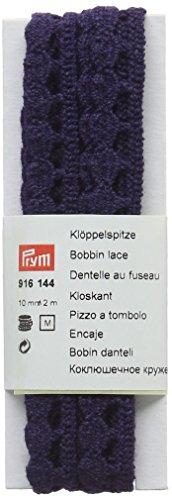 Prym Bobble/Balle Plat Bord en Dentelle, 100% Coton, Bleu Marine, 10 mm, 2 m