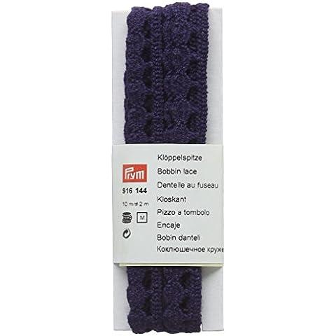Prym–Bobble/bola Edge encaje plano, 100% algodón, azul marino, 10mm, 2m