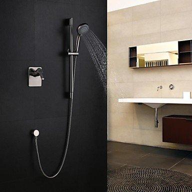 miaoge Zeitgenössische Nickel gebürstet Wandhalterung Sliding Dusche Wasserhahn mit fünf Funktionen Handbrause (Sliding Dusche Türen Zubehör)
