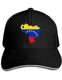 Bgejkos Mapa de la Bandera de Venezuela Algodón Sándwich para Adultos Gorra  de Pico Sombrero Deportivo fb5d5ba6ac5