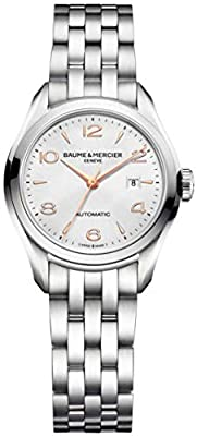 Baume & Mercier Clifton Women's Automatic Watch with Silver Dial Analogue Display and Silver Stainless Steel Bracelet M0A10150