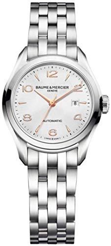 Baume & Mercier Damen Analog Automatik Uhr mit Edelstahl Armband M0A10150