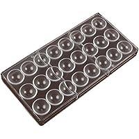 Moule Chocolat, DIY Polycarbonate Moule 24 Demi Boule De Bonbons Moule Ustensiles De Cuisson Outils