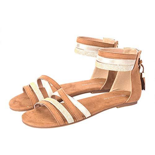 YYAMO Sandalias para Mujer Zapatillas Antideslizantes con Cinturón Antideslizante Zapatillas De Playa...