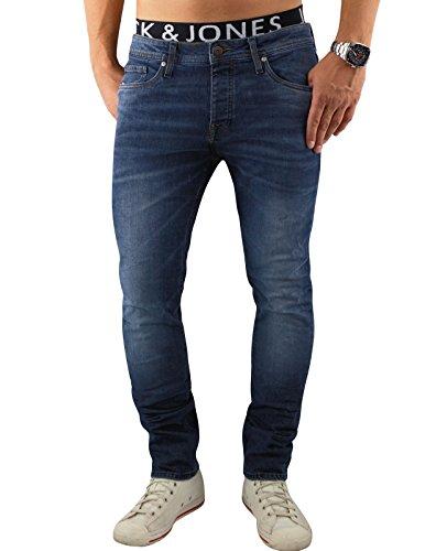 Jack & Jones Homme Slim Fit Tim originales 085 Jeans, Bleu Bleu