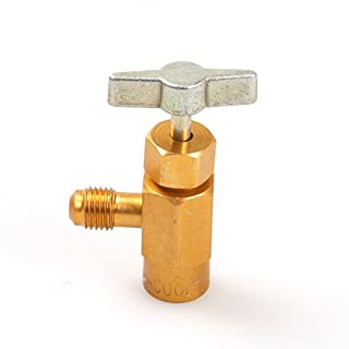 ATOPLEE 1 Pc R-134a AC Refrigerant Can Bottle Tap Opener Valve Tool 1/4 SAE Thread Adapter
