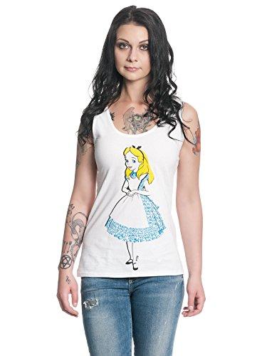 Alice im Wunderland - Damen Top - Alice (Weiss) (S-L) (M) (Disney Aladdin Blu-ray)