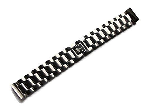 POLJOT International Uhren-Armband Metall 20mm Edelstahl poliert Anstoß gerade Faltschließe