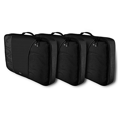 RYACO 3 Stück Premium Packwürfel Robust & Langlebig Reisetasche,Verpackungswürfel, Packtaschen, Kleidertasche, Koffer-Organizer, Aufbewahrungstasche