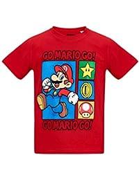 Mario Bros - Camiseta de Manga Corta - Manga Corta - para niño