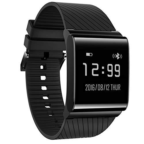 WETERS Fitness Tracker Activity Tracker Uhr Pulsmesser Wasserdicht Blutdruckinformationen Erinnerung Schritt Für Schritt Bluetooth Sport Armband,Black -