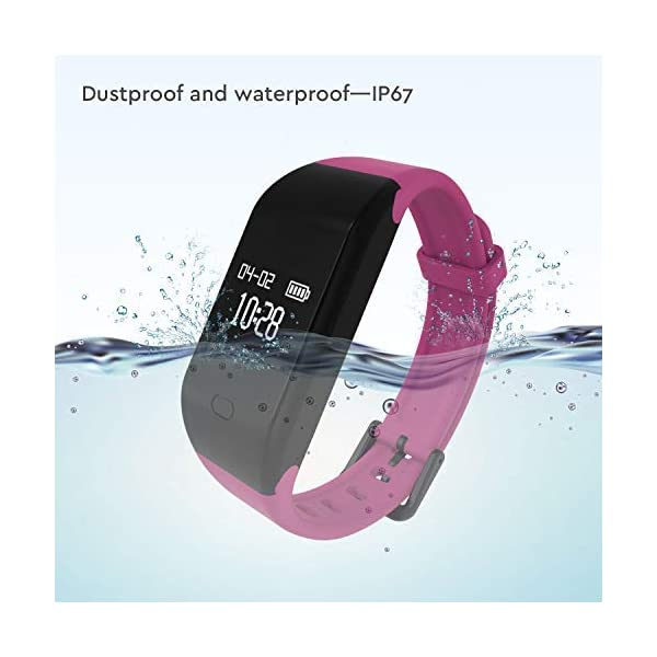 Fitpolo Pulsera de Actividad,Reloj Inteligente para Hombre y Mujer, IP68 Impermeable Reloj Deportivo con Rtmo Cardíaco… 2
