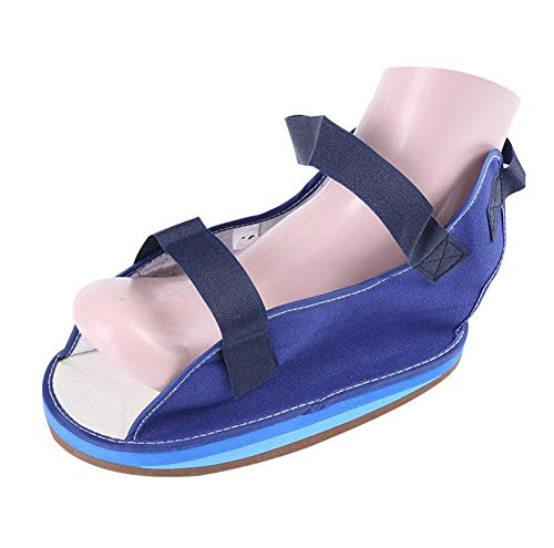 QIANGGAO AnkleFracture Gypsum Shoes/Toe Valgus Fixed Shoe Cover - Metatarsal Surgery Rehabilitation Eco Canvas Open Toe Cast Shoe - Maximum Shock Absorbency,L - Cover Cast Toe